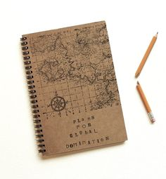 Hand-stamp and bound journals