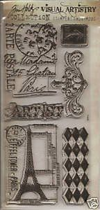 Amazon.com: TIM HOLTZ - Visual Artistry Collection Stampers Anonymous Clear Stamps - French Market: Tim Holtz: Home & Kitchen