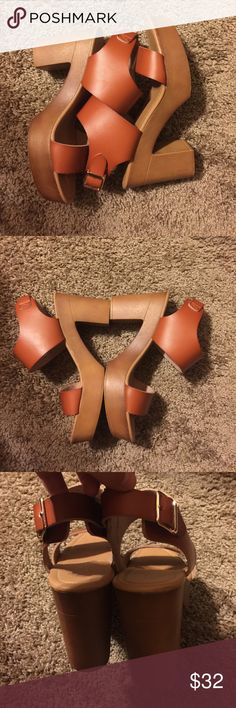 Chunky heels Very cute chunky heels. Only used for senior pictures. MAKE AN OFFER! 😊 Shoes