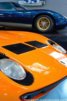 Inside Adam Carolla's Collection of classic Datsuns, Nissans, and Lamborghinis. Sports Cars Lamborghini, Lamborghini Miura, Vintage Bikes, Vintage Cars, Fiat 600, Car Engine, Super Cars, Porsche, Classic Cars