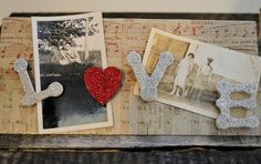 Shabby Love: Valentine's trowel picture holder