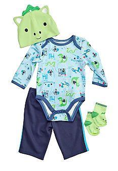 Nursery Rhyme® 4-Piece Dragon Creeper Pants Set $16.80