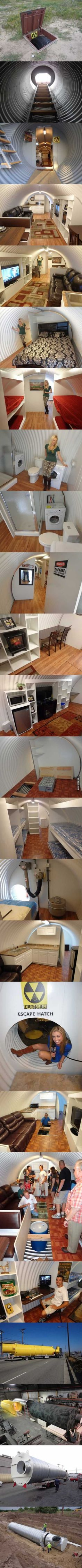 Survival Shelter : A fall-out shelter that is better than people's houses