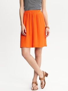 Banana Republic Accordion Pleat Skirt