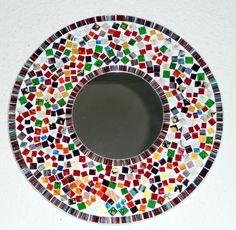 Schöner Mosaikspiegel - handgefertigt                                                                                                                                                     Mehr