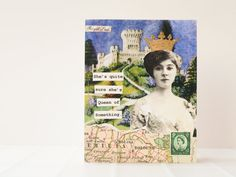 Handmade Card  Queen of Something  Handmade Card  OOAK by newnanc, $4.75