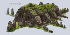 Rustic Stone Dwelling | Video Games Artwork