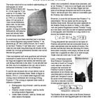 This is a collection of five worksheets that explain in great depth about the Rosetta Stone and it's importance in our understanding of hieroglyphs...