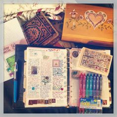 Filofax as a journal... cute ... Filofax FB page, user Kerry Duff