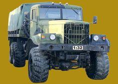 KrAZ-255B Truck Free Vehicle Paper Model Download