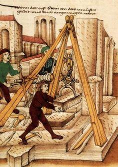 Le treuil de tailleur de pierre   Origine inconnue