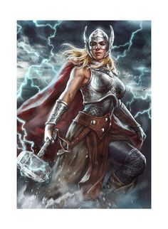 Thor | Thor: Jane Foster Premium Art Print by Ian McDonald | Sideshow Collectibles | Popcultcha
