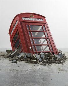 Banksy, BRITISH PHONE BOOTH on ArtStack #banksy #art