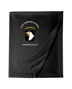101st Airborne Division Embroidered Blanket-3341 Special Force Group, Airborne Army, 101st Airborne Division, Cooling Blanket, Embroidered Sweatshirts, Blanket Sizes, Custom Embroidery, South Florida