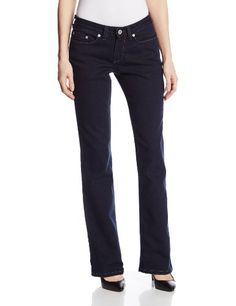 Dickies Women's Curvy Boot Cut Leg Denim Jean, Dark Stonewash, 8 Regular >>> You can find more details at