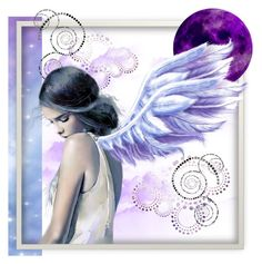 """Dreaming of Purple"" by angelarmoyer ❤ liked on Polyvore featuring art"