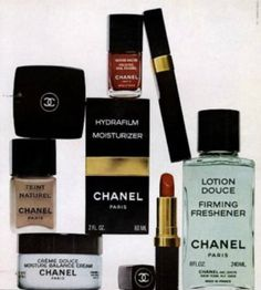 Chanel 1978 Chanel Beauty, Chanel Makeup, Chanel Fashion, Vintage Makeup, Vintage Beauty, Chanel Creme, Timeless Beauty, Iconic Beauty, Estilo Coco Chanel