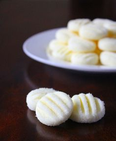 cream cheese and sugar mints aka angel bites. I remember my neighbor making these for Christmas! Yummm