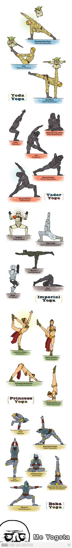 Star Wars yoga. Repinned by Columbus Speech & Hearing Center. For more ideas visit pinterest.com/ColumbusSpeech