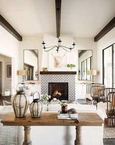 rustic country fireplace surround