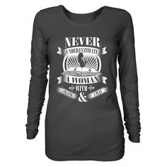 Ideal woman in the bible - Women's Long Sleeve Charcoal