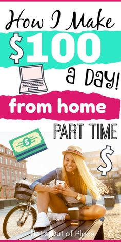 Making extra money from home is easy and possible whether you're a college stude.Making extra money from home is easy and possible whether you're a college student, want to get financial independence or are stay-at-home-mom. Earn Extra Money Online, Earn Money From Home, Make 100 A Day, Way To Make Money, Quick Money, Money Fast, Sites Online, Online Jobs, Online Income