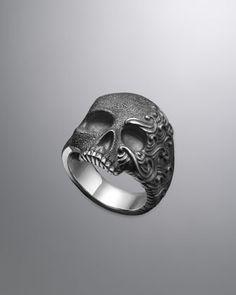 "Mysterious ""Waves Skull Ring""  -  by David Yurman"