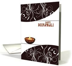 Diwali Greetings - brown decorative lamp on white card. Personalize any greeting card for no additional cost! Cards are shipped the Next Business Day. Diwali Cards, Diwali Greeting Cards, Diwali Greetings, Festival Lights, Holiday Cards, Brown, Decor, Christian Christmas Cards, Decorating