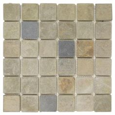 Jeffrey Court Sequoia 12 in. x 12 in. x 8 mm Slate Mosaic Tile-83019 - The Home Depot