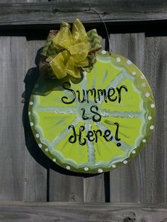 Key Lime Summer Door Hanger by CurlyQsCreation on Etsy, $30.00