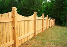Scalloped Wood Fence - Semi-Privacy Fence