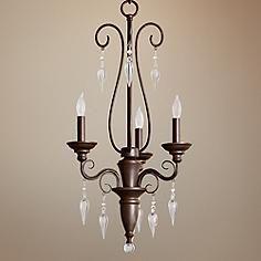 """Quorum Vesta 3-Light 16"""" Wide Oiled Bronze Chandelier"""