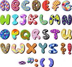 Resultado de imagen de moldes de letras