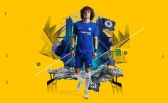 Chelsea defender David Luiz sports the stylish new home strip for the forthcoming campaign