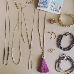 My travel jewelry essentials... Power Gemstone necklace, Laguna lariat in gold and rose, Tulum necklace(coming soon), Lola ring and cuff, Taner half hoop, Ryder ear climber and of course a stack of Power Gemstone bracelets. All so easy to layer and so versatile! xx G #gorjana #livelovelayer