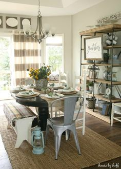 Exceptional Dining Room Decorating Idea Dining Room Curtains, Teak Dining Table,  Kitchen Decor, Kitchen
