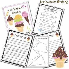 "Persuasive Writing ~ ""why should I buy you ice cream?"" So cute."