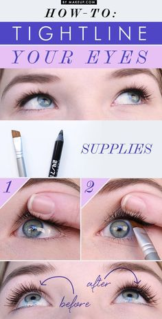 How to Tightline Your Eyes // love this makeup trick! #fashion #beautiful #makeup