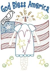 God Bless America Sampler   Military Embroidery Downloads   Machine Embroidery Designs   SWAKembroidery.com HeartStrings Embroidery