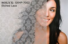 SOLYX: SXHP-7002 Etched Lace Window Film - Etched Lace on optically clear window film.