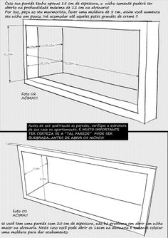 idea-projetos blognicho3 Bathroom Niche, Bathroom Shelves, Bathrooms, Plumbing Drains, Interior Architecture, Interior Design, Wooden Decks, Deck Design, Mobile Home