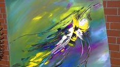 Abstract Painting Demonstration Abstrakte Acrylmalerei Bumblebee at Spri...