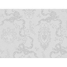 Set de table Cérémonie Garnier-Thiebaut - Modèle : Mille rubans - Set de table en coton anti-tache - Coloris : blanc