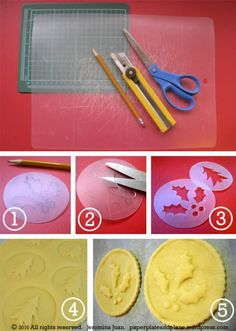 Como hacer estampados en galletas o para decorar fondant de manera casera.