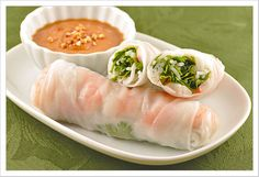 Summer Wraps with peanut sauce recipe that includes coconut milk.