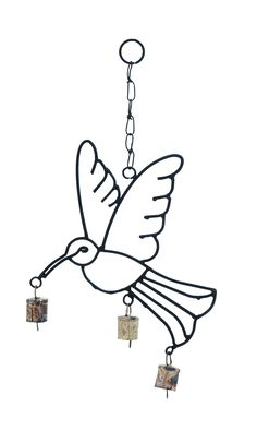 Lightweight And Crafted With Quality Metal Bird Wind Chime