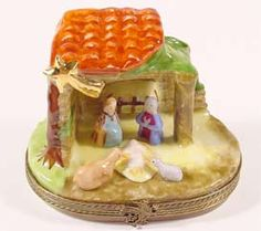 Nativity Scene - The Crib - Limoges Box