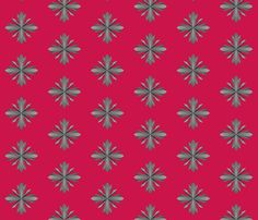 fabric, upholstery, patterns, quilting fabric, wallpaper, wrapping paper - Iron Crosses Red fabric by wickedrefined on Spoonflower
