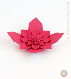 Origami Hydrangea Tessellation Box | Origami Tutorials