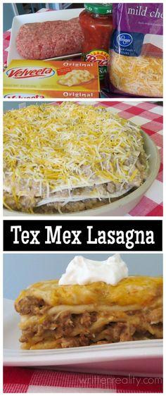 EASY Tex Mex Lasagna recipe